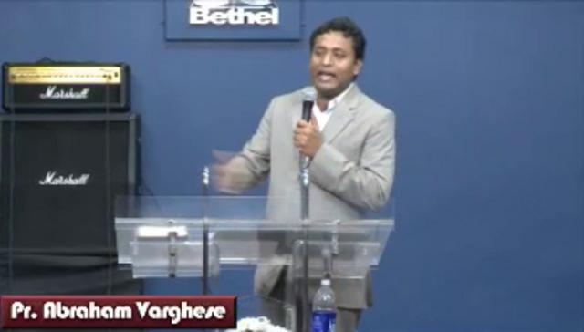 Message by Rev.Abraham Varghese