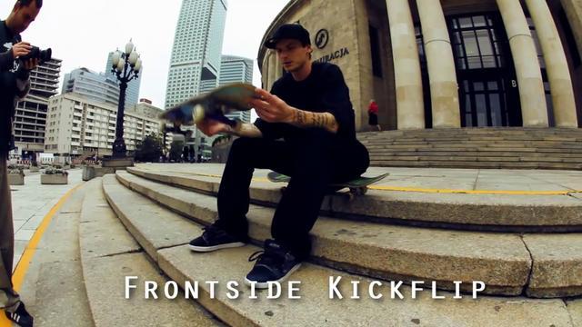 Nauka Frontside Kickflip oraz Nollie Kickfip by Paweł Krężel