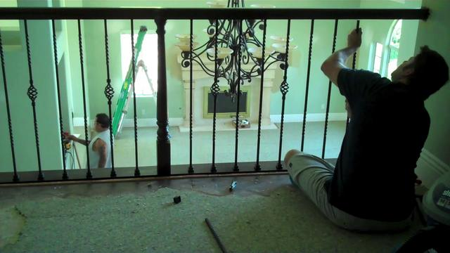 How To: Install Wrought Iron Balusters IN LESS THAN ONE DAY! on Vimeo