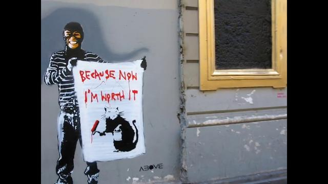"Video: ABOVE ""Because Now I'm Worth It"" – Banksy Thief in Paris"