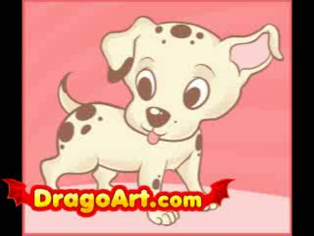 How to draw an easy puppy step by step