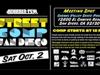 Come out to the Chosen Few Street Comp this Saturday October 2nd. Meeting spot is Carmel Valley Skate Park: 12600 El Camino Real San Diego, CA, 92130.  We have sick spots sick back up spots sick after party So much product to give out it's crazy. ...