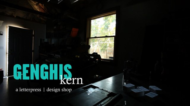 Genghis Kern - A Letterpress And Design Shop
