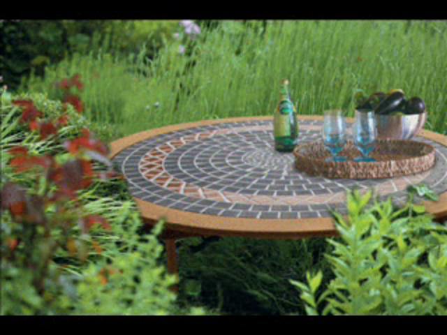 Producteur de tables en mosa que tables en fer forg et tables de jardin en mosa que on vimeo for Achat table de jardin mosaique