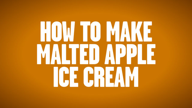 How to Make Malted Apple Ice Cream