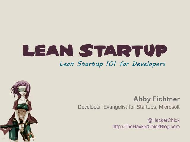 Lean Startup 101 for Developers