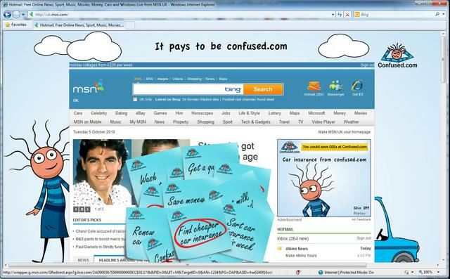 Confused.com MSN Homepage Takeover
