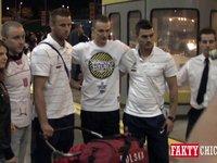 Reprezentacja Polski na lotnisku O'Hare w Chicago
