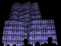Projection multimdia sur un building 