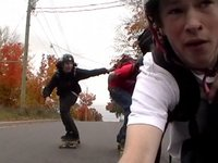 fall longboarding