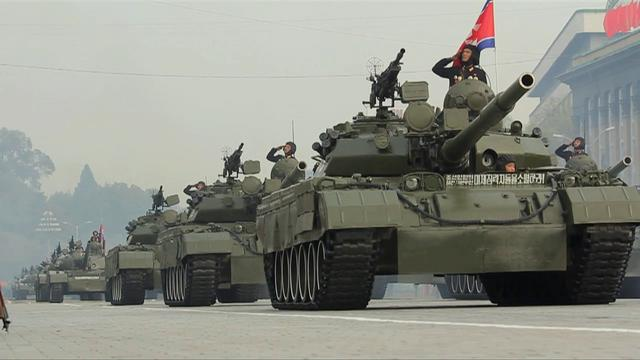 north korean army parade. north korean army parade.
