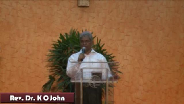 Message by Rev. Dr. K C John