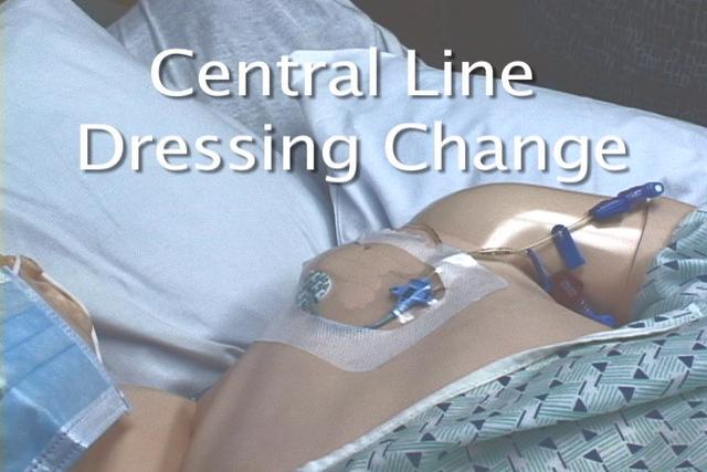 Lmc central line dressing change on vimeo for Photo dressing change