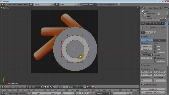 Making a Blender Logo using Curves - HD - UPDATED!