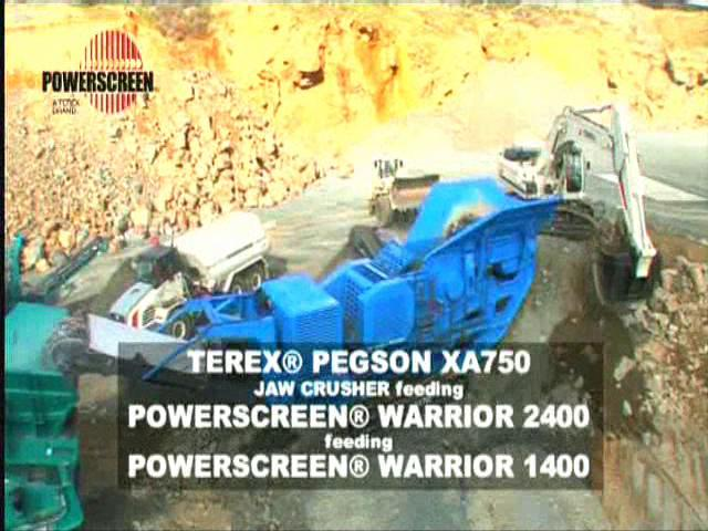 Powerscreen Pegson XA 750 with Warrior 2400