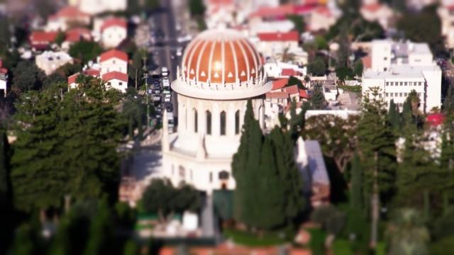 Tilt Shift: Baha'i Shrine and Gardens, Haifa